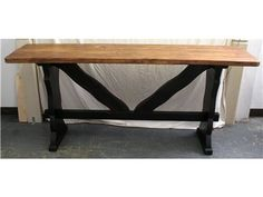 Custom Sofa Table from Cashiers' Customs in Cashiers NC