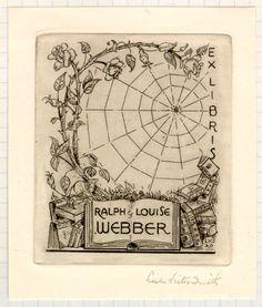 Bookplate of Ralph & Louise Webber
