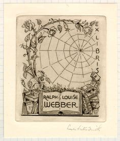 Bookplate of Ralph & Louise Webber