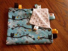 Owls Ribbon Blanket by BlanketsbySheryl on Etsy, $15.00