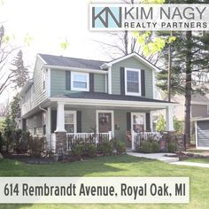 Just Listed | 614 Rembrandt Ave, Royal Oak  Location, location, location!!! Stunning colonial home within walking distance to downtown royal oak and is loaded with charm. This home features a covered front porch, inviting kitchen with stone pillar, dark cherry cabinets, granite counter tops, great room w/ a stone fireplace, butler bar and refrigerator, open concept, mud room with built in's, second floor laundry with work area, finished rec area in basement, master bedroom su