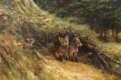 Rien Poortvliet Museum - Schilderijen jongee vossen                                                                             lb xxx.