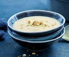 Bramborovo-pórkový krém | Recepty Albert Hummus, Cheese, Ethnic Recipes, Food, Essen, Meals, Yemek, Eten