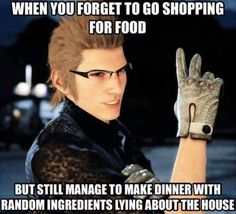 Can't stop repinning FFXV memes in anime meme board, sorry
