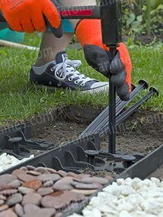Garden Stones, Garden Paths, Garden Beds, Front House Landscaping, Backyard Landscaping, Landscape Design, Garden Design, Outdoor Projects, Outdoor Decor