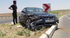 DİYARBAKIR - Çınar ilçe merkezine yaklaşık 7 kilometre uzaklıkta Göksu Barajı yakınlarında sürücüsünün direksiyon hâkimiyetini kaybettiği ...