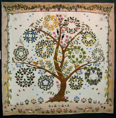 Keiko Miyauchi Tree of Life - Regeneration #quilt [I Dont like the snake would take it out!!]