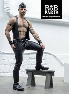 Leather and Rubber Garrison Cap, Mens Leather Pants, Sexy Men, Hot Guys, Black Leather, Menswear, Skinny, Boots, Latex