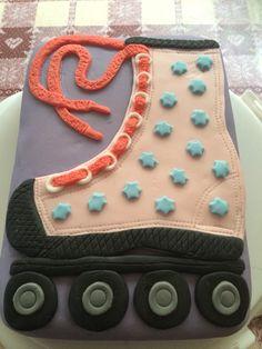 Roller skate cake. Roller Skate Cake, Skating Party, Parties, Cakes, Fiestas, Cake Makers, Kuchen, Cake, Pastries