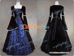 victorian gothic  | Victorian Gothic Brocade Velvet Dress Wedding Ball Gown : CosplayBuy ...