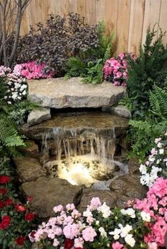 Gorgeous Backyard Ponds and Water Garden Landscaping Ideas (77)  #WaterGarden