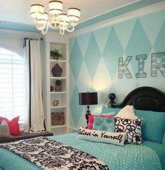 Teen room... instead of the diamonds, Chevron :)