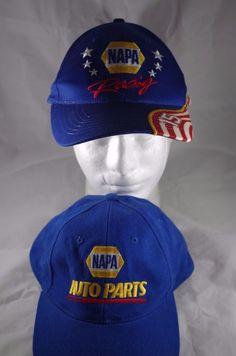 f73b0d37672b4 Lot of 2 NASCAR NAPA Racing  15 Hat Cap Adjustable Red White   Blue  baseball  NAPA