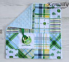 Boys John Deere Minky Binky Blanket From Kemaily by Kemaily, $12.95