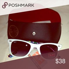 Authentic style Ray ban replicas Quality sunglasses. Comes with cleaning cloth, case, and tags. **not authentic Willing to negotiate? Make an offer! 😁 Ray-Ban Accessories Glasses