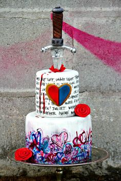 ROMEO+JULIET: A love story - by ManBakesCake @ CakesDecor.com - cake decorating website