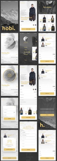 Free Fashion Ecommerce App UI PSD - Love a good success story? Learn how I went from zero to 1 million in sales in 5 months with an e-commerce store. Mobile Web Design, Web Ui Design, App Design Inspiration, Application Ui Design, Id Card Design, Ecommerce App, Android App Design, Ui Web, Web Layout