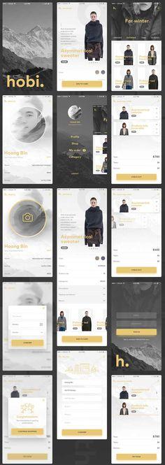 Free Fashion Ecommerce App UI PSD