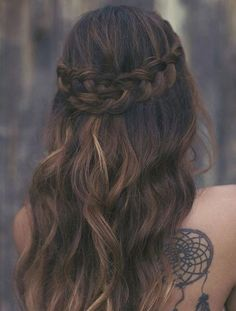 Two French Braids Wrap Around