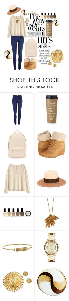 """""""Hits of the season"""" by melliflusous ❤ liked on Polyvore featuring River Island, Kate Spade, PB 0110, Timberland, H&M, Maison Michel, Lauren B. Beauty, Aurélie Bidermann, Rebecca Minkoff and Marc by Marc Jacobs"""