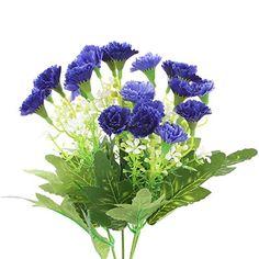 Soledi 1 Bunch 25-stem Artificial Flower Dianthus Caryoph...