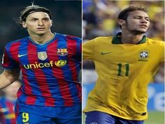 Ibrahimovic e Neymar performance and skills