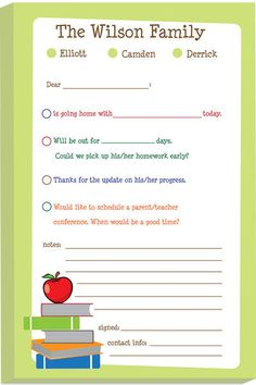Red Apple Excuse Pad