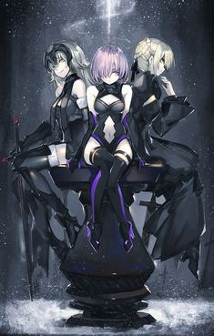 Fate Grand Order  Alter saber, Alter Jeanne and Mashu Kyrielite