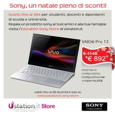 #sconti #studenti #natale #regali #università #sony #vaio #vaiopro13 http://www.ustation.it/sony-store