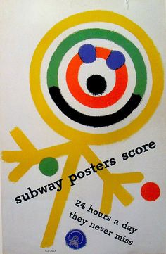 Paul Rand Subway Posters Score, 1949