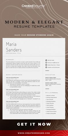 Minimal and professional resume template that will help to get the job of your dreams faster! Easy to customize on Word and Apple Pages. Designed by an experienced CreatedResume team these resume templates will catch an eye and help you outstand from the others. #resume #resumetemplate #modernresume #resumeformat #resumedesign #resumetips #createdresume #cv #cvtemplate Basic Resume, Professional Resume, Modern Resume Template, Resume Templates, Software, Microsoft Word 2007, Good Resume Examples, Wish You The Best, Resume Format