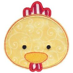 Embroidery Design Set - Cute Animal Faces Applique 17
