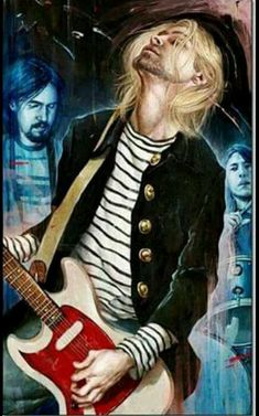 Illustration: Nirvana by Rory Kurtz Nirvana Band, Nirvana Kurt Cobain, Kurt Cobain Art, Banda Nirvana, Kurt Cobain Painting, Nirvana Tattoo, Eddie Vedder, Pearl Jam, Black Veil Brides