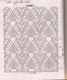 Crochet lace ground stitch ~~ pineapple and shell ~~ Gisa Presentes