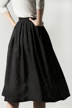 Diumbier SilkAtelier Spring 2020 Black Midi Skirt, Noblesse, Pure Silk, High Waisted Skirt, Lovers, Pure Products, Elegant, Spring, Lace