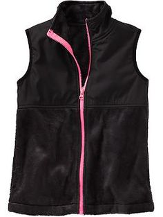 Girls Plush Pieced Vests