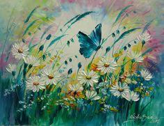 MAGICZNA ŁĄKA Viola Sado obraz olejny 35 x 45 cm