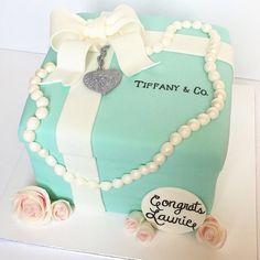 Beautiful Breakfast at Tiffany's cake.
