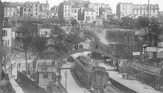 La gare de Ménilmontant, juste avant que les voies ne s'enfoncent sous la colline de Belleville