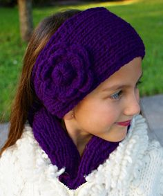 Loving this Violet Rosa Cable Knit Wool Head Warmer on #zulily! #zulilyfinds