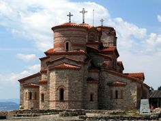 The church of St. Clement and St. Panteleimon 'Saint Panteleimon monastery', a Byzantine style monastery in Ohrid, part of the Natural and Cultural Heritage of the Ohrid region