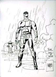 Nick Fury drawing by Goran Parlov