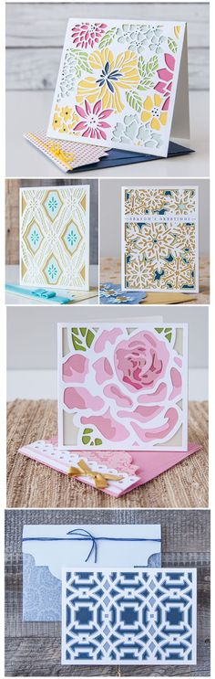 Layered Cards Made with Cricut Using Die Cut Technique