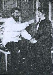 "Grigori Efimovich Rasputin with Olga Lokhtina.   ""AL""                                                                                                                                                                                 More"