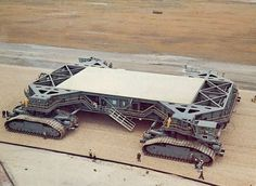 "mechaddiction: "" NASA Crawler Transporter, 1966.Made by THe Marion Power Shovel Company of Marion,Ohio – https://www.pinterest.com/pin/73887250116480766/ """