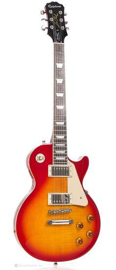 epiphone les paul standard plain top elektrische gitarre ebenholz