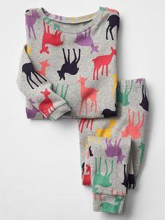 Deer print sleep set