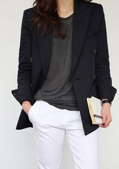 TheyAllHateUs white pants, black blazer