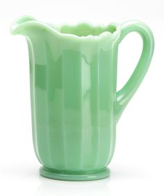 Look at this Mosser Glass Jade Pitcher on #zulily today!
