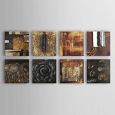 Peinture à l'huile réalisée à la main abstraite sur canevas tendu – USD $ 99.99